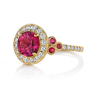 Rubellite and Spinel Patricia Ring